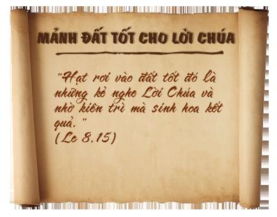 5 phút cho Lời Chúa tháng 07/2012
