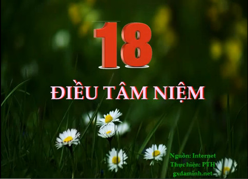18 ĐIỀU TÂM NIỆM